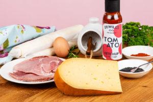 Ham and Cheese Crown with Doddington Dairy Berwick Edge Cheese.